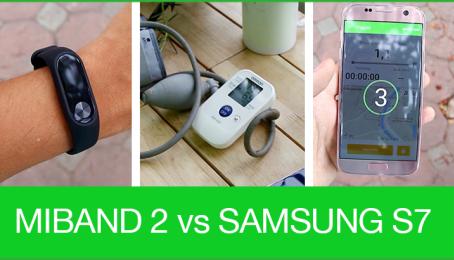 Đo quãng đường, nhịp tim với Mi Band 2, S7 và máy đo chuyên dụng