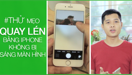 #THỬ mẹo quay lén bằng iPhone không bị sáng màn hình :D