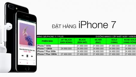 Đặt hàng iPhone 7, 7 Plus - Di Động Mango