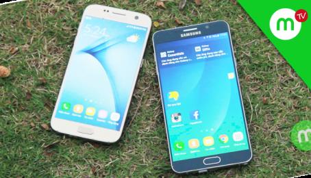 So sánh Samsung Galaxy S7 và Note 5, nên chọn máy nào???   MangoTV
