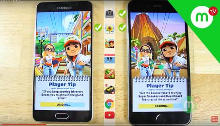 SPEEDTEST Hiệu năng của SAMSUNG A7 2016 và iPhone 6 Plus? CHIẾN THẮNG BẤT NGỜ | MANGO TV