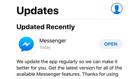 Facebook Messenger trên iOS đã có bản update sửa lỗi văng app