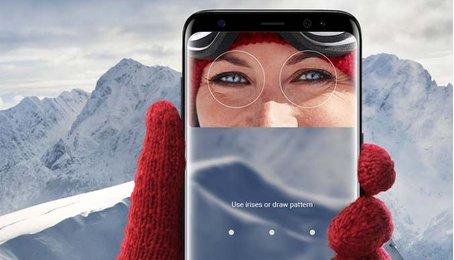 Thay ảnh hiển thịchức năng quét mống mắt của chiếc Samsung S8 / S8 Plus
