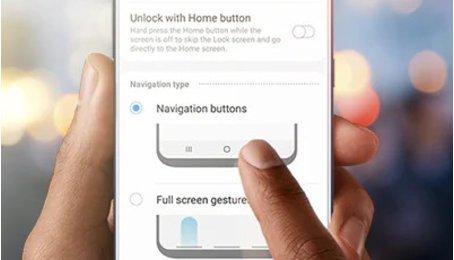Cử chỉ thanh điều hướng với One UI trên các máy Samsung