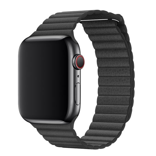 Dây da Apple Watch - Black Leather Loop 44mm
