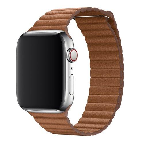 Dây da Apple Watch - Saddle Brown Leather Loop 44mm