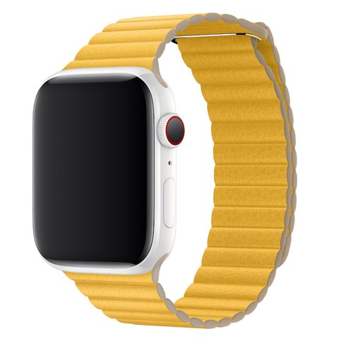 Dây da Apple Watch - Meyer Lemon Leather Loop 44mm