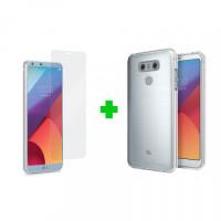 Combo cường lực + ốp lưng cho điện thoại LG